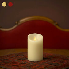 Ksperway 3.5*5inch Real Wax Flameless Moving Wick Remote Candle Ivory