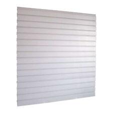Grey Slat Wall Panel Kit Plastic  Containing Four Interlocking Panels