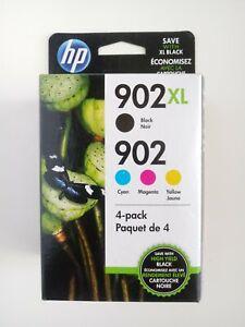 HP #902XL/902 Cyan Magenta Yellow Black Ink Cartridges Combo Pack OEM Oct 2022