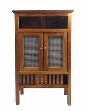 Food Cabinet Small Storage Wood Thai Furniture Bathroom Curio Teak Shelf Carveds