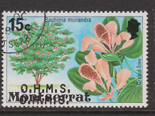 MONTSERRAT - 1980 OHMS 15c OVPT. DOUBLE FINE USED SG.O30a (REF.A7)