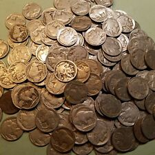 (40) $.05 1913-1938 Buffalo Nickel Partial Date Roll Lot Mostly 10's & 20's