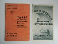 Katalog Gewerbe De Dietrich Heizung Mit Zugabe Tarif 1939