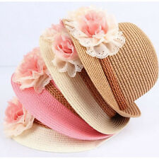 Baby Girl Kids Fashion Flower Cap Summer Beach Sun Hat Straw Headwear Hot