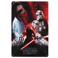 Star Wars 7 Vintage Blechschild RARITÄT Sammler Kylo Ren Hauptfiguren