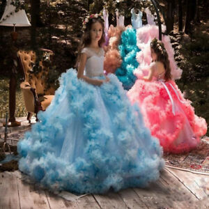 Flower Girl Princess Pageant Wedding Birthday Party Formal Communion Prom Dress