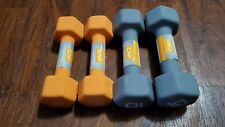 CAP Neoprene Dumbbells 10LB and 8LB Pound Pairs Bundle Hex Weights Dumbells