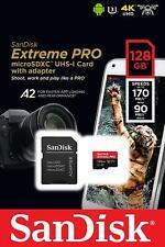 Sandisk MicroSD Extreme Pro Memory Card 32GB 64GB 128GB 256GB 400GB Nikon Cannon