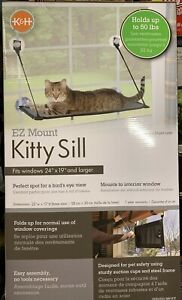 "K&H Pet Products EZ Window Mount Kitty Sill 23""W x 12""D Hold Up to 50lbs Gray/Bl"
