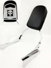 Chrome Skull Backrest Sissy Bar For 2001-2008 Honda Shadow Spirit 750 / VT750