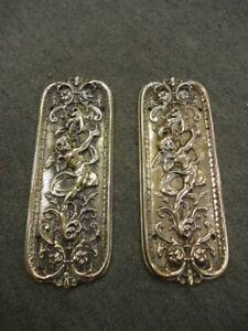 Quality Pair Of Victorian Cast Brass finger plates