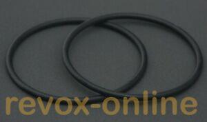 2 x O-Ringe, Gummiringe für NAB-Adapter Revox Studer Tandberg
