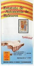 España Estatuto de Autonomía de Baleares año 1984 (DI-100)