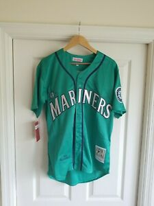 NWT Retro Ken Griffey Jr Seattle Mariners THROWBACK Green MLB Jersey Mens SIZE M