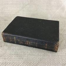 Antique Bible Cuir Recouvert Ancienne Nouveau Testament Victorien Original