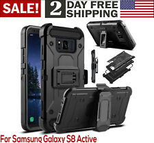 Samsung Galaxy S8 Active Heavy Duty Armor Shockproof Rugged Protection Case C...