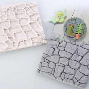 Stone Wall Texture Fondant Cake Silicone Mini Mat Mould Sugar Craft Cake Decor