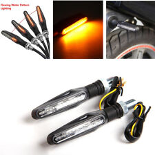 2x Amber 12 LED Motorcycle Scooter Flowing Turn Signal Indicator Light Lamp 12V