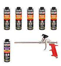 Pistolenschaum 5 x 500ml + 1 Metall Schaumpistole + 1 Reiniger Montageschaum SET