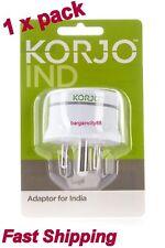 Korjo Power Plug Adaptor-AU AUS Australia NZ travel to  India Sri Lanka Pakistan