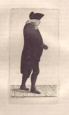 JOHN KAY Original Antique Etching. Dr Andrew Hunter, Professor of Divinity, 1789