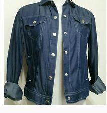 Pure AMICI Short Denim Style Women's Long Sleeve Button Down Soft Shirt/Jacket S