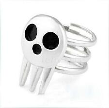 1pcs New Cute Soul Eater Death The Kid Rings Silver For Anime Cosplay L5US