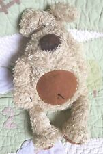 "JellyCat Cream Beige Floppy Stuffed Schnauzer Puppy Dog Toy 14"" EUC"