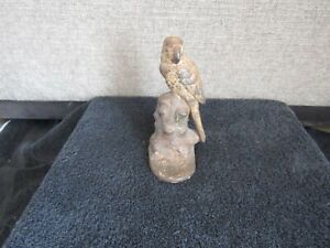 Antique HUBLEY  #25 Cast Iron Bird Doorstop Art Statue Original