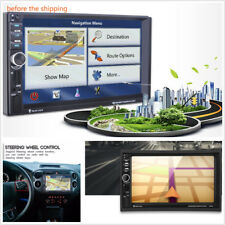 """7"""" HD Touch Screen In-Dash Car GPS Navigation Bluetooth Stereo MP3 Player AUX FM"""