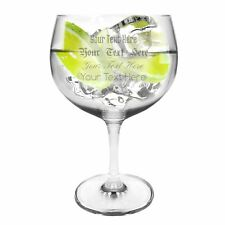 Ginsanity Personalised Crystal (Extra Large) Spanish Gin Balloon Glass - 696ml