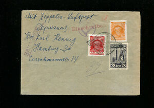 Zeppelin Sieger 85var 1930 Russia Flight Russia Post Registered NO ROUTE MARKING