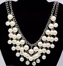 2 Broke Girls Caroline Inspired Pearl Statement Necklace NEW
