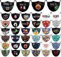 Among Us Erwachsene Stoffmaske Mund Nasen Schutz Behelfsmaske mit Filter Tasche