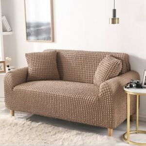 Solid Color Elastic Sofa Cover for Living Room Sectional Slipcovers Couch Cover