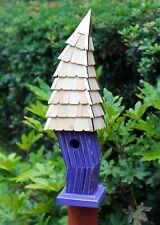"""Birdhouses - """"Cardiff"""" Crooked Birdhouse - Purple - Garden Decor"""