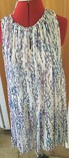 Witchery Fresh Blue Gathered Neck Hi/ Lo Dress Size 10 Rrp $ 170. Reduced !!!!!