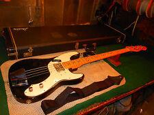 Vintage 1977 Fender Telecaster USA Bass Guitar With Case Rare Black