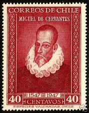 CHILE, MIGUEL DE CERVANTES, 1947, MNH