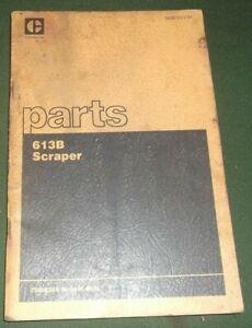 CAT CATERPILLAR 613B TRACTOR SCRAPER PARTS BOOK MANUAL S/N 72M4268-UP