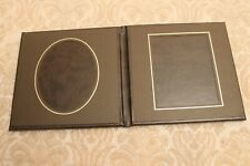 BROWN LEATHER 2 PHOTO PICTURE 4 X 5 PORTFOLIO