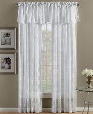 "Beacon Looms Wedding Rings 52""x84"" White Sheer Rod Pocket Window Panel"