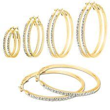 Creolen Creole Ohrring Ohrstecker Kristalle Straß silbernschwarz gold