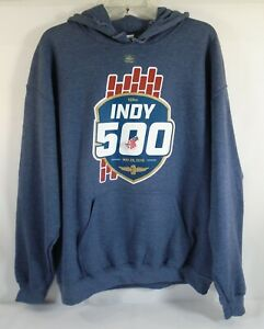 2019 Indianapolis 500 103RD Running Event Blue Hoodie Sweatshirt 2X-Large New