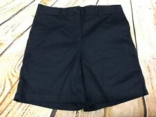Izod Girls Shorts Size 12 Regular Flat Front School Uniform Navy Blue New