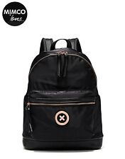 MIMCO Splendiosa Black rose gold Backpack Back pack bag Authentic