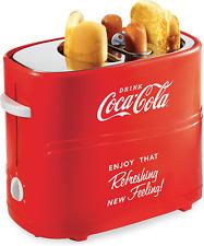 Nostalgia Hdt600Coke Coca-Cola Pop-Up 2 Hot Dog and Bun Toaster With Mini Tongs