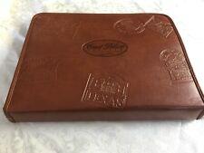 "Vintage Brown Zipped Briefcase Portfolio unique States cover-""Good Sam Club"""