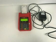 Crescent Diamond T7 Plus by Hypercom Red Credit Card Machine w/Power Euc