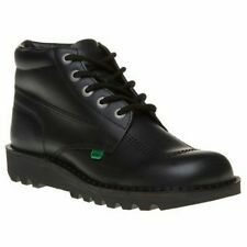 Kickers HI Kick Men`s Black Leather Smart Work/School Boots UK Sizes 6.5 To 11